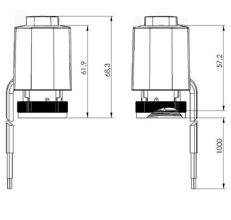 Salus T30NC230 Stellantrieb 230V Fußbodenheizung stromlos geschlossen M30 x 1,5